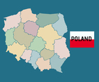 Poland Blind Map