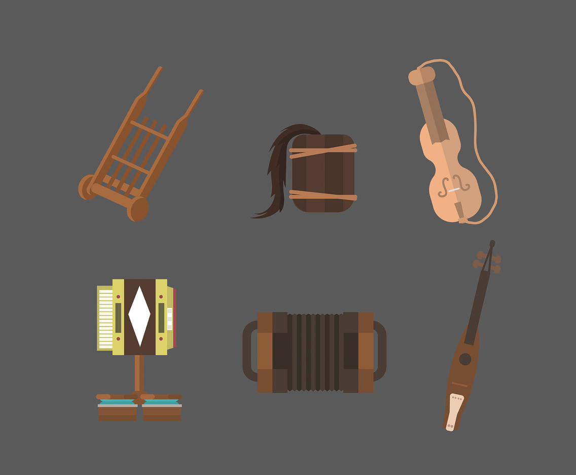 Musical Instruments of Poland Vector