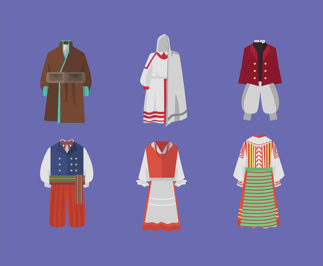 Traditional Clothing of Poland Vector
