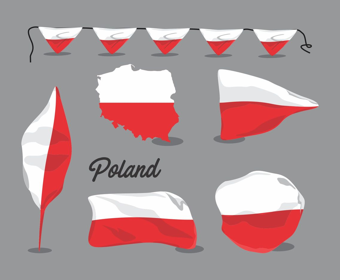 Poland's Flag Vector Pack