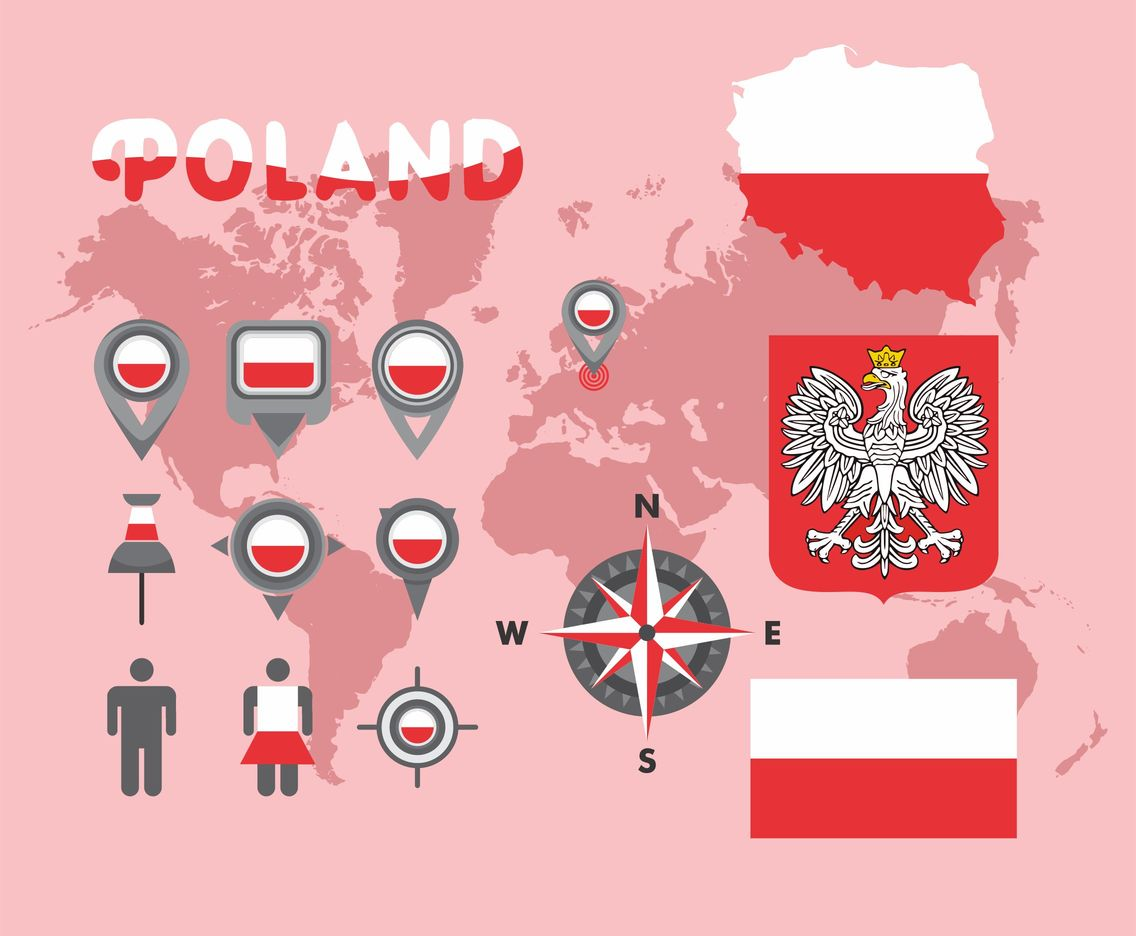 Poland Map Vector Pack