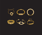 Golden Bracelets Vector
