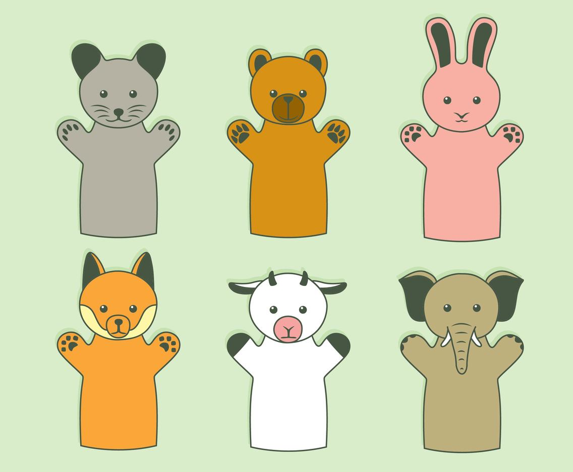 Animal Puppet Collection Vector
