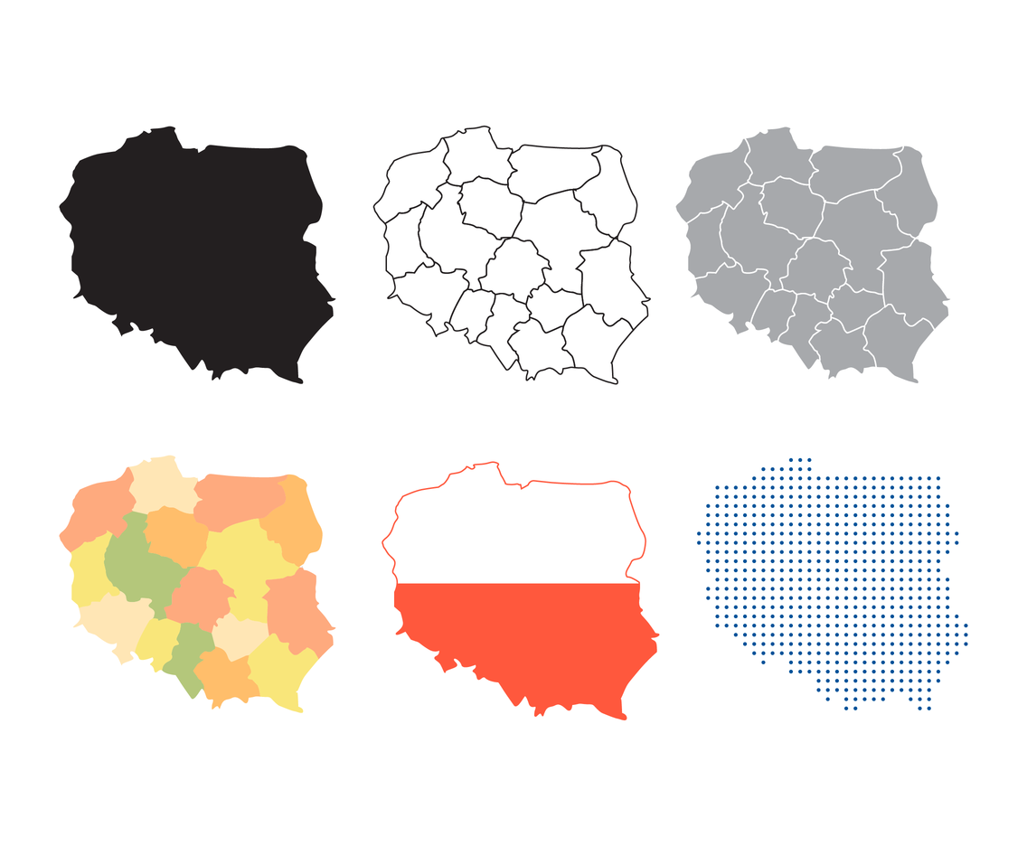 Isolated Poland Map Vector