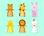 Cute Hand Puppet Animal Vector