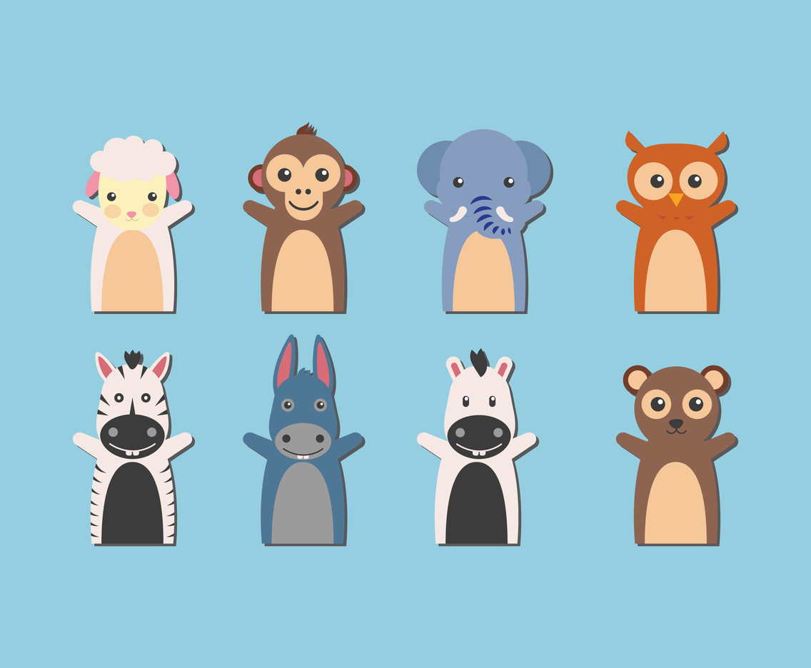 Puppet animal vector