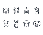 Outline Animal Icon Set