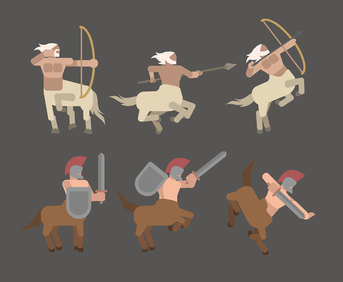 Centaur Vector in Flat Design