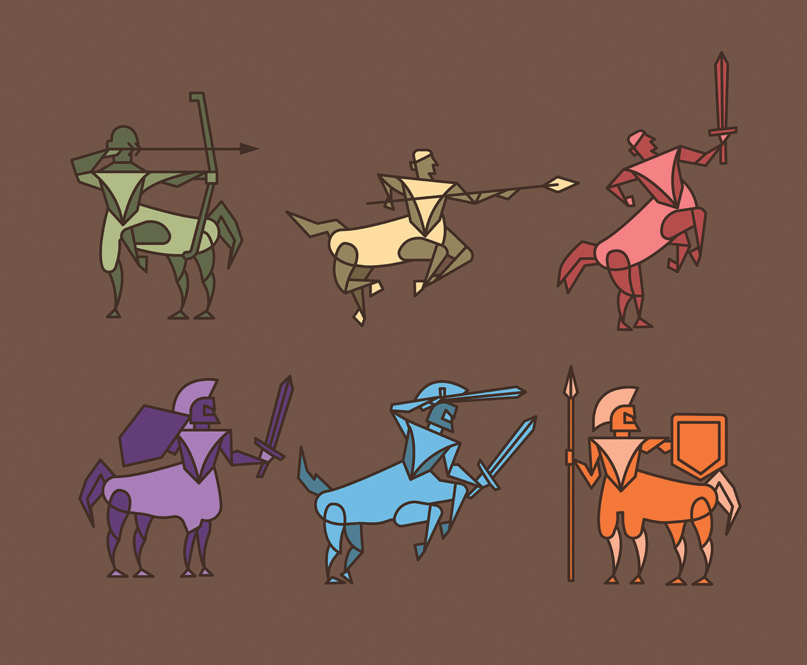 Centaur Vector in Different Colors