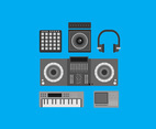 Dubstep Music Equipment Vector