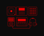 Electronic Music Set Vector