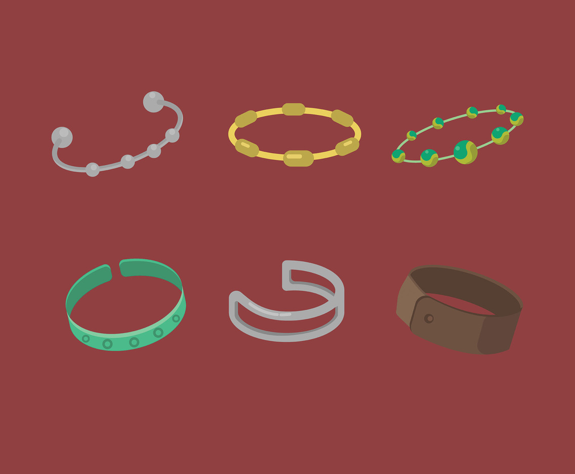 Bracelets Vector Red Background
