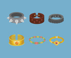 Bracelets Vector in Flat Design