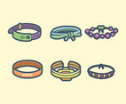 Bracelets Vector in Thick Line Design