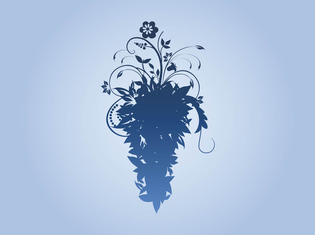 Floral Silhouette Vector | www.imgkid.com - The Image Kid ...