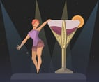 Burlesque Performance Vector