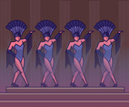 Burlesque Dance Vector