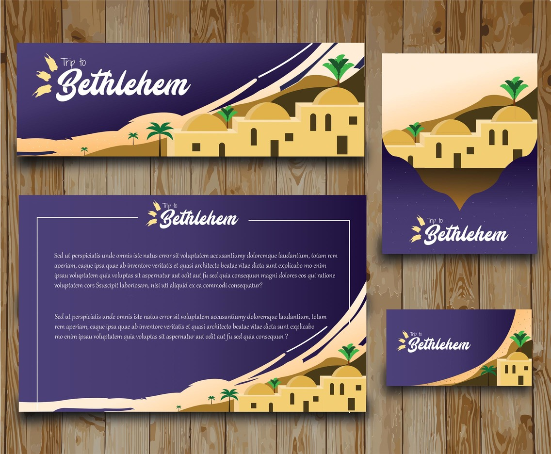 Bethlehem Vector Card