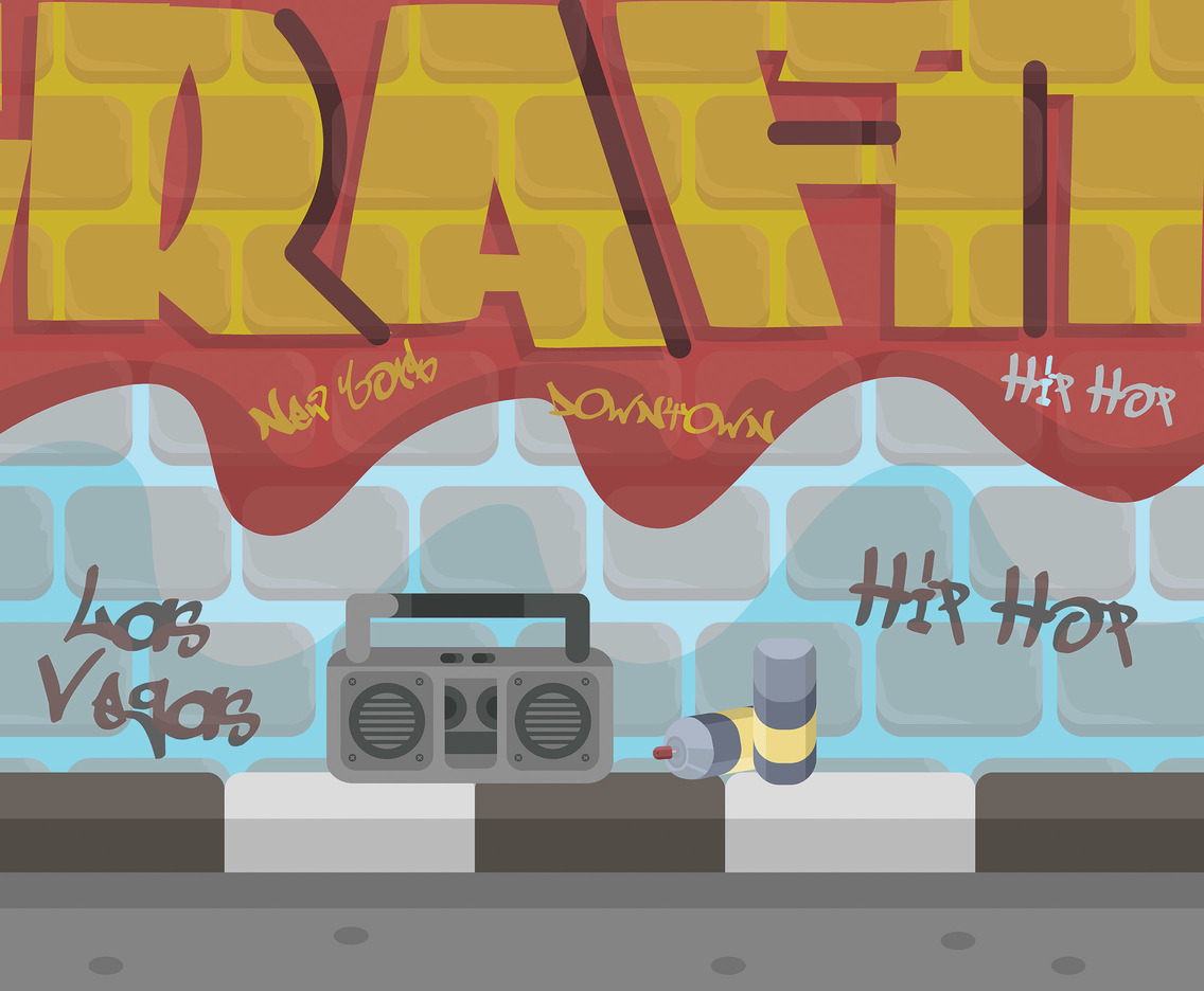 Hiphop Graffiti Vector