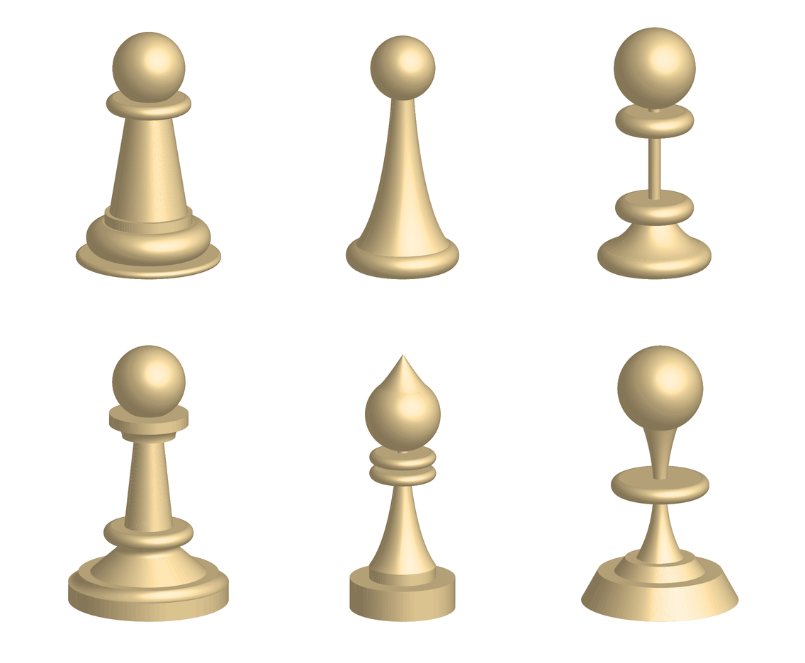 3D White Pawn Vector