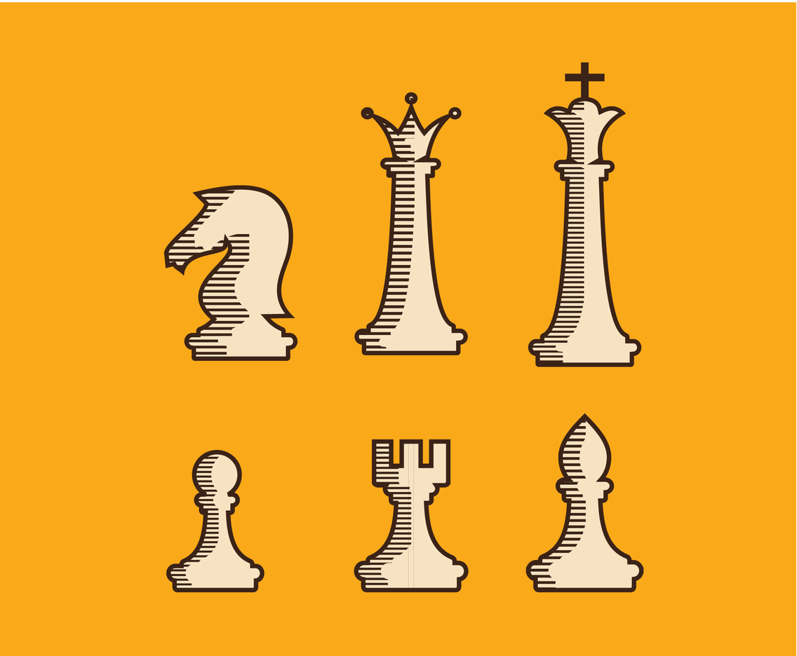 Simple Chess Illustration Vector