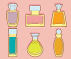 Fragrance Collection On Pink Vector