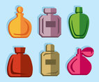 Colored Fragrance Icons Vector
