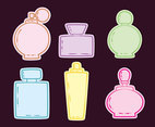 Hand Drawn Fragrance Icons Vector
