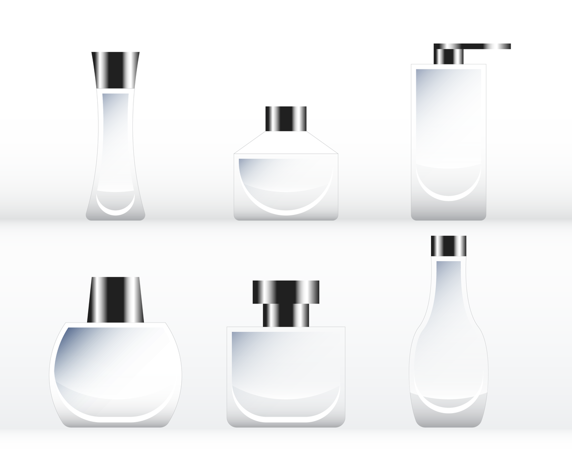Blank Fragrance Mockup Template Vector
