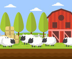 Flock of Sheep Vector