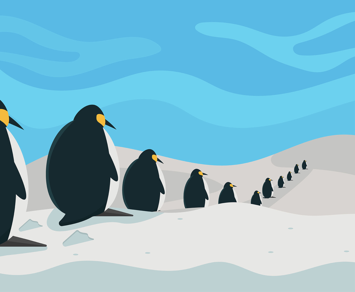 Flock of Penguins Vector