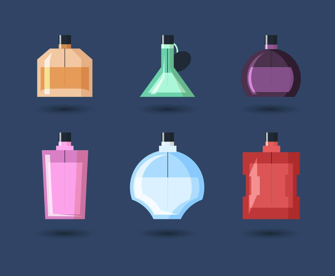Fragance Bottles Illustration Vector