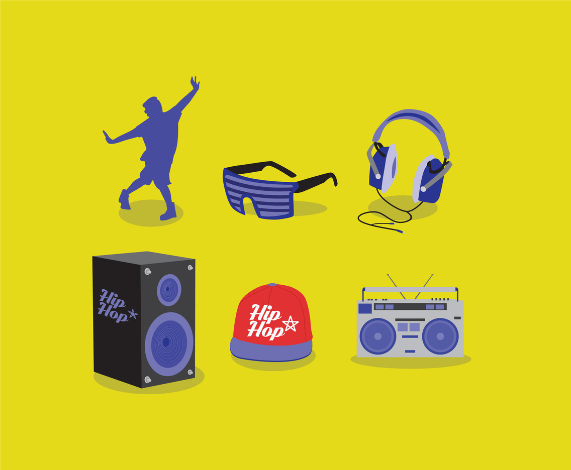 Hip Hop Music Vector