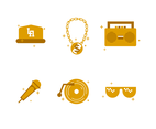 Free Gold Hip Hop Icon Vector