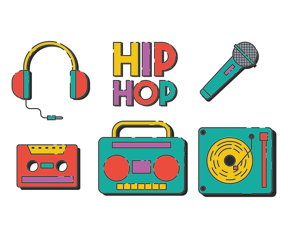 Hip hop vector set