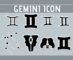 Flat Gemini Sticker