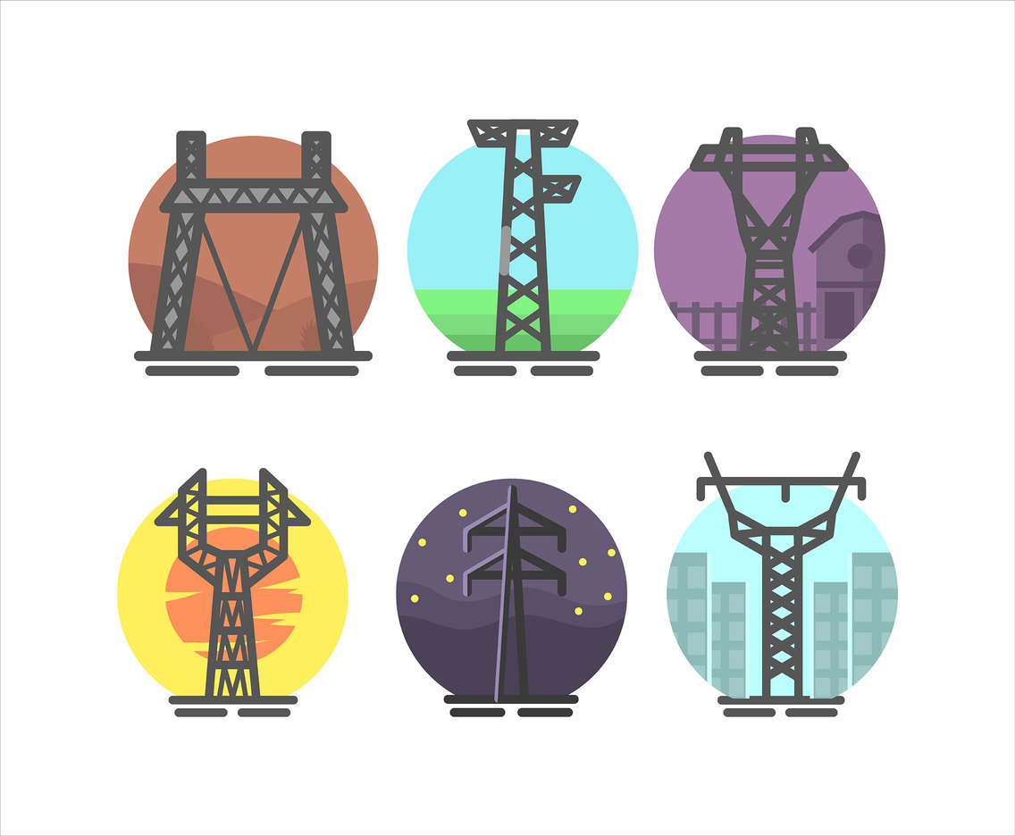 Pylon Icon Vector