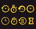 Quick Time Icons Vector