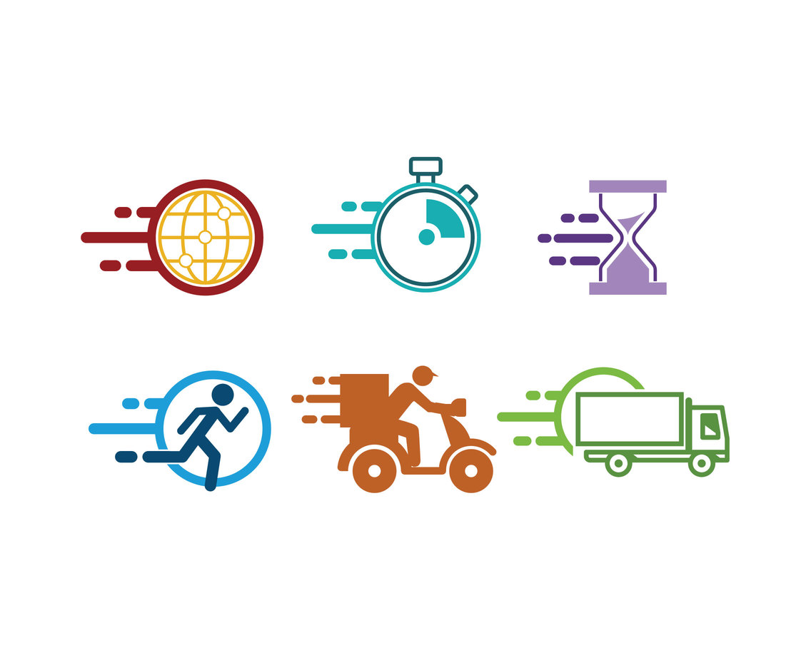 Express Time Icons Vector
