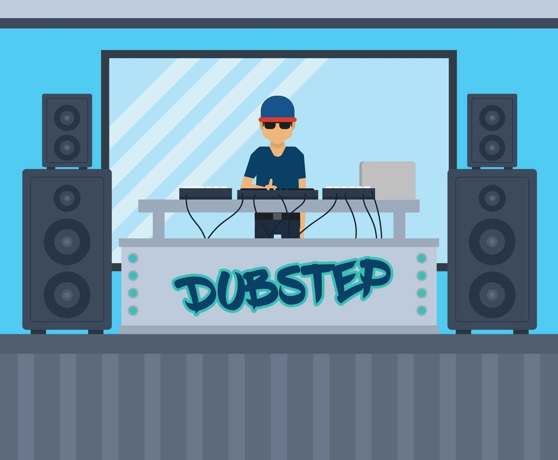 Dubstep vector illustration
