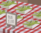 Peas for Sale Vector