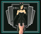 Burlesque Illustration Vector