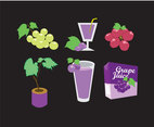 Grapes and Drink Vector