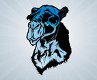 Blue Camel Head