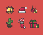 Feliz Navidad Vector Red Background