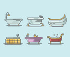 Bathtub Vector in Thick Line