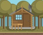 Log Cabin Vector