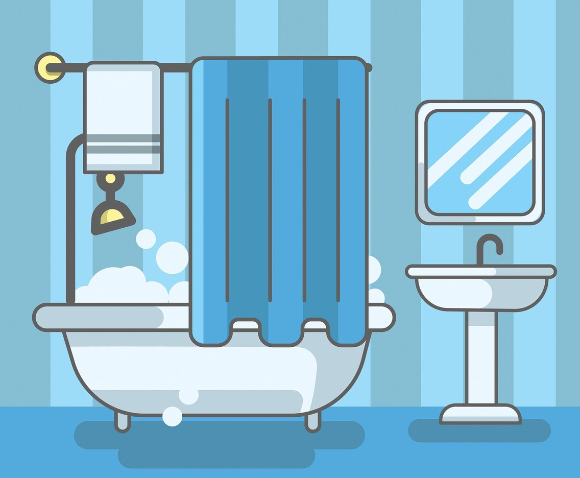 Bathtub and Sink Vector