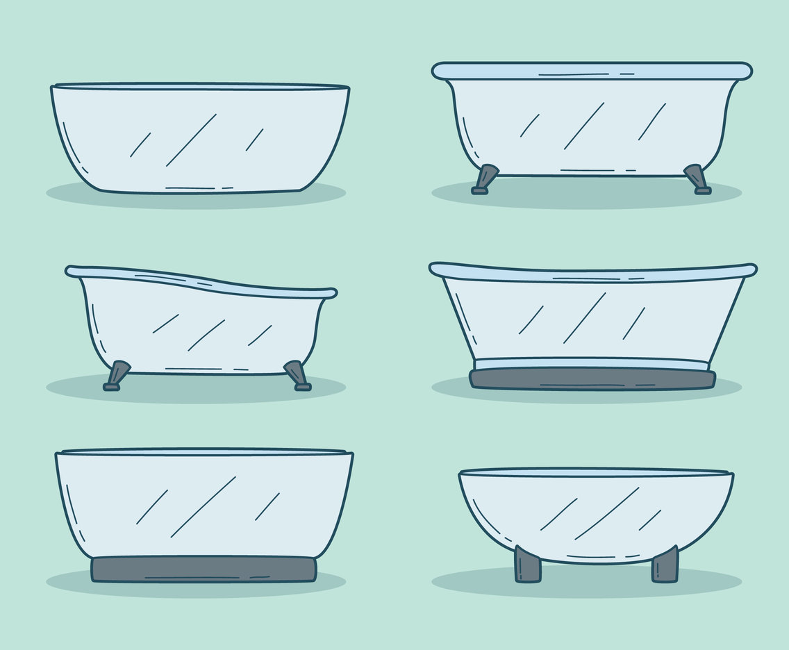 Hand Drawn Bathtub Vector
