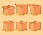 Carton Box Collection Vector